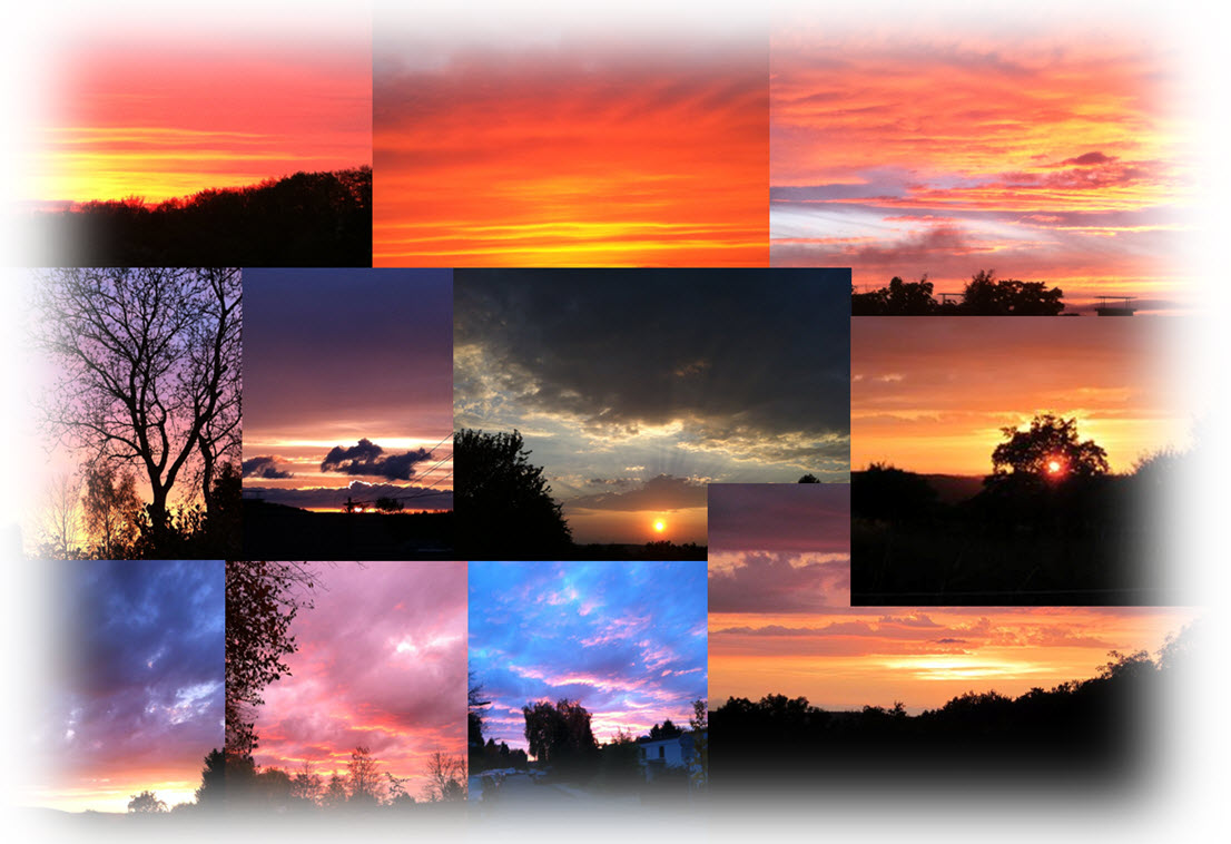 Collage_Sonnenuntergänge